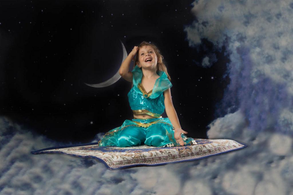 Con Jasmine sul tappeto volante