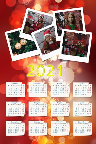 Natale 2021 Calendario.Calendario 2021 Modello E Natale Miomovie It